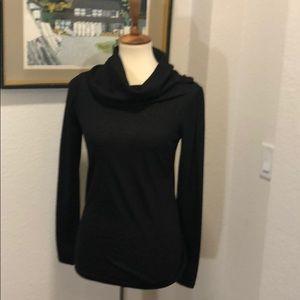 Ann Taylor Long Sleeve Black Knit